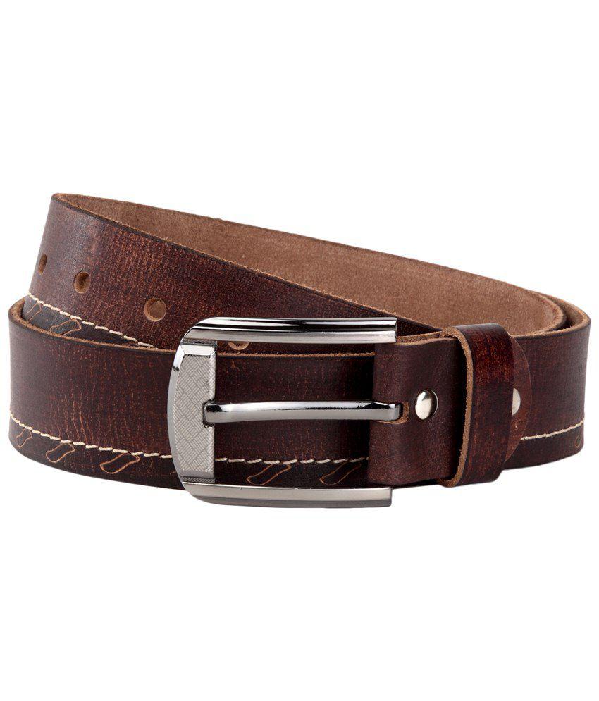 WildHorn Brown Leather Casual Belt for Men