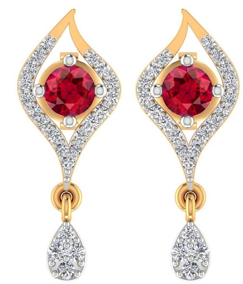 Jewels Of Jaipur 14kt Gold Drop Earrings