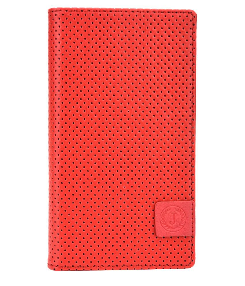 Jo Jo Flip Cover For Sony Xperia M2 Dual D2302 - Red