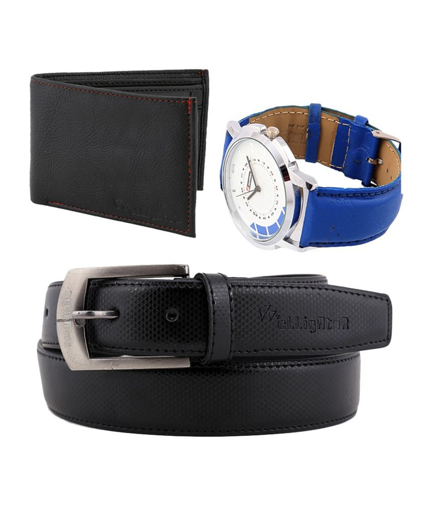 Lotto Combo of Mens Watch with Elligator Belt & Wallet