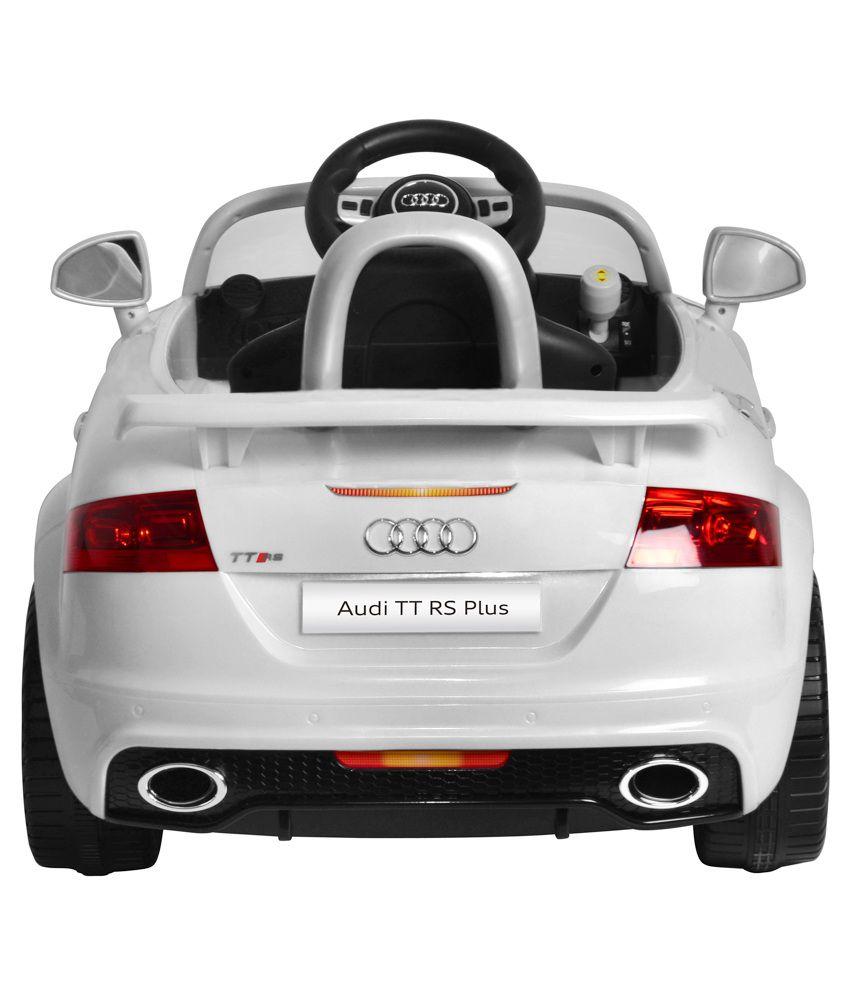 mera toy shop plastic audi tt rs plus electric motor car white