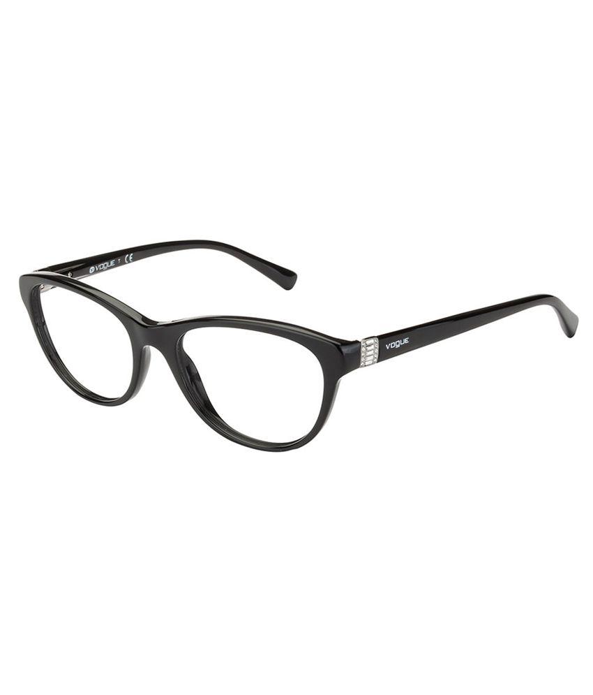 Vogue Eyeglass Frames Black : Vogue Black Cateye Eyeglasses For Women - Buy Vogue Black ...