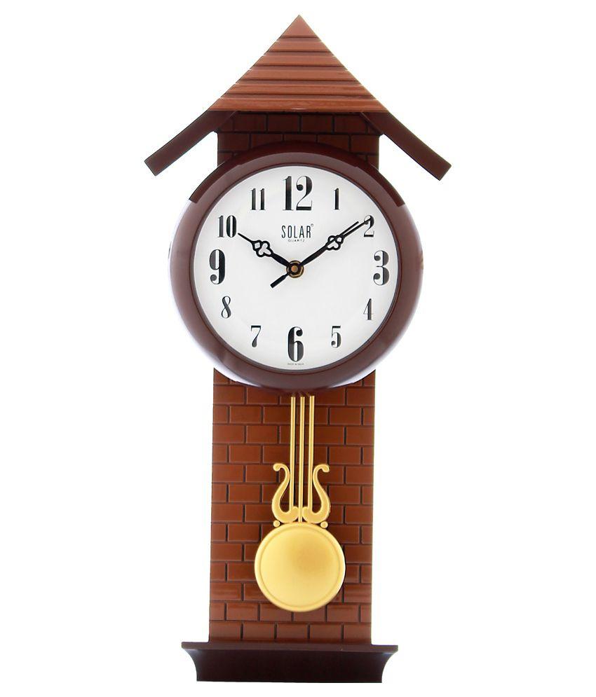Fiesta Brown Pendulum Wall Clock: Buy Fiesta Brown ...