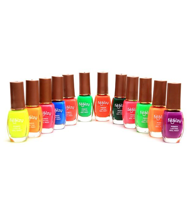 Foolzy Pack of 12 Nail Polish Paint