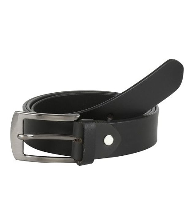 Global Leather Black Leather Formal Belt