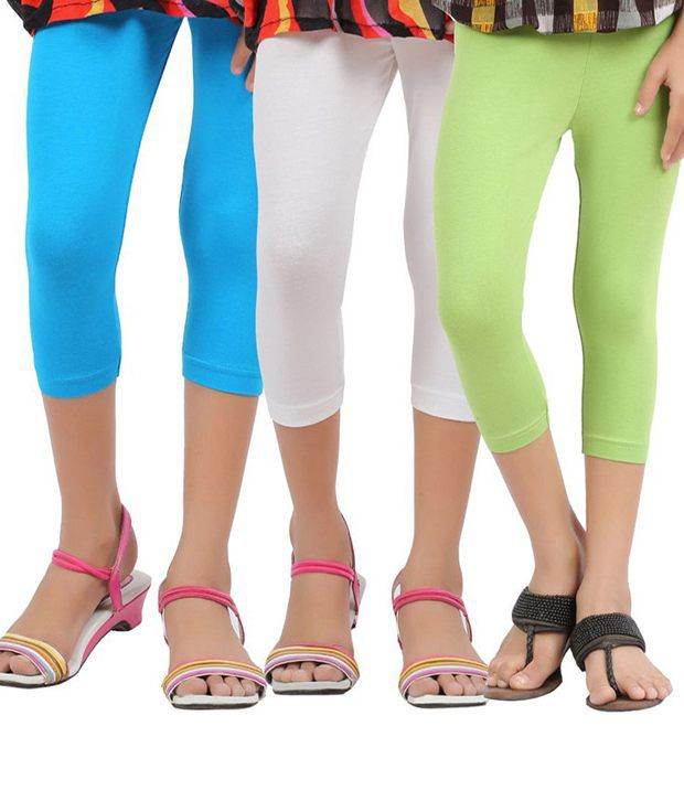 Greenwich Multicolour Capri For Girls-Set Of 3