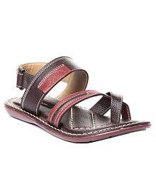 Trilokani Unique Brown Sandals For Boys