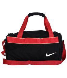 Nike Black & Red Maleta Versity Para Dama Duffle Bag For Women