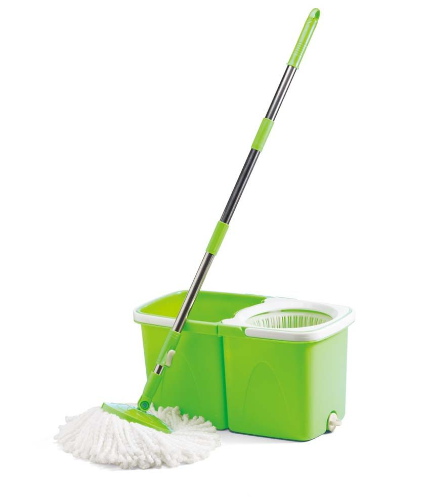 Blessed Twin Bucket Spin Mop Green