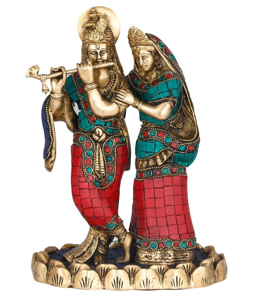 91a308fc751 Collectible India Brass Turquoise Lord Radha Krishna Statue  Buy  Collectible India Brass Turquoise Lord Radha Krishna Statue at Best Price  in India on ...