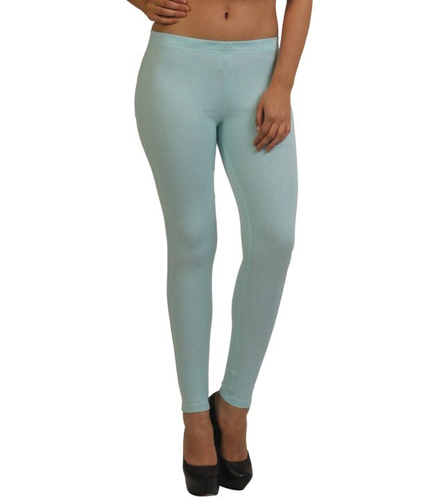 Frenchtrendz Turquoise Cotton Jeggings
