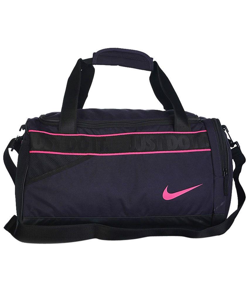 Gym Bag Nike Price: Nike Black & Purple Varsity Travel For Men Gym Bag