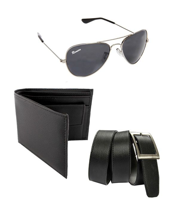 Pack of 3 Gentleman Wallet,Belt & Sunglass