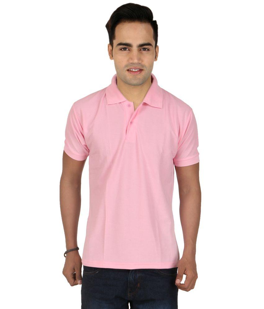 Larwa pink half sleeves basic polo t shirt buy larwa for Full sleeve polo t shirts