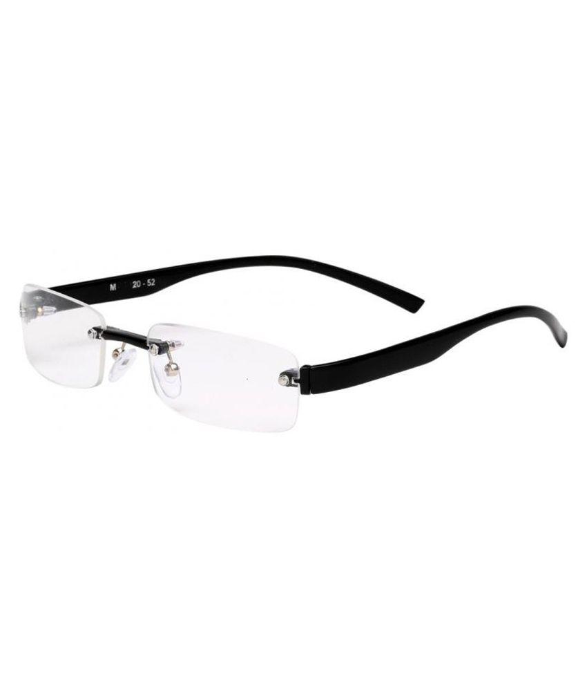 Gioviale Black Frame Arc Rimless Frame Eyeglasses