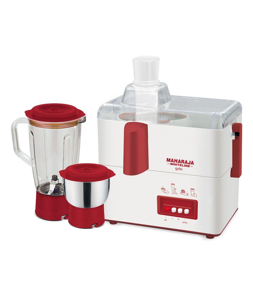 Maharaja Whiteline Gala 450 W 2 Jar Juicer Mixer Grinder Price in ...