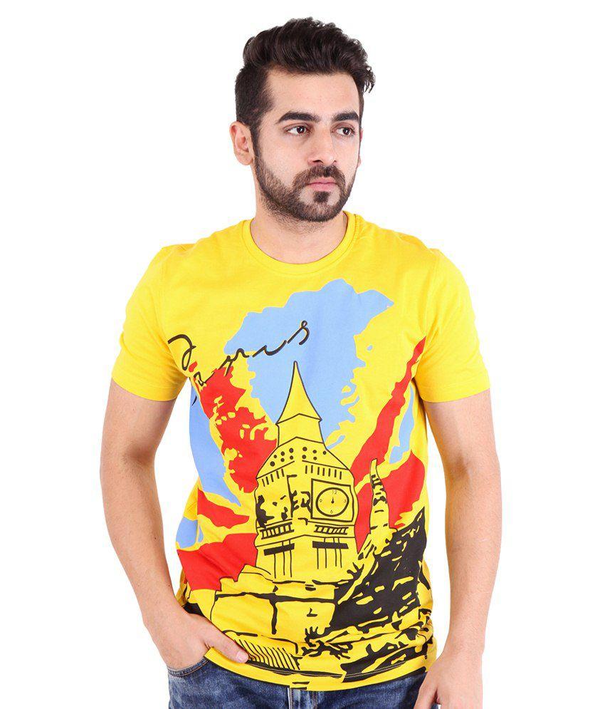 Nimbus Yellow Cotton T Shirt