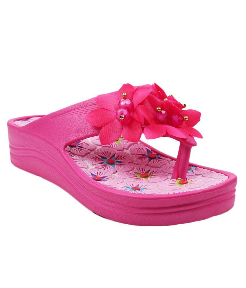 Aalishan Pink Slippers
