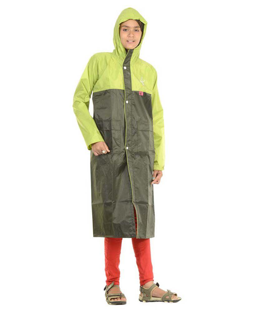 Allwin Polyester Long Raincoat - Multi Color