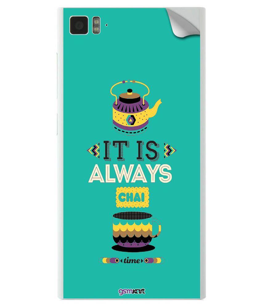 Gsmkart Mobile Skin Sticker For Xiaomi Mi3 - Multicolor