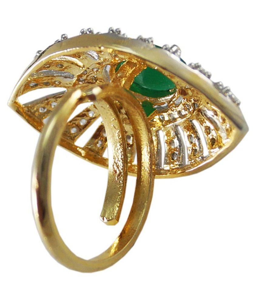 Jewelry Place Latest Design AD Stone Elegant Finger Ring: Buy ...