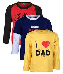 Quick View Goodway Combo Of 3 Multicolour Full Sleeve T Shirt For Boys