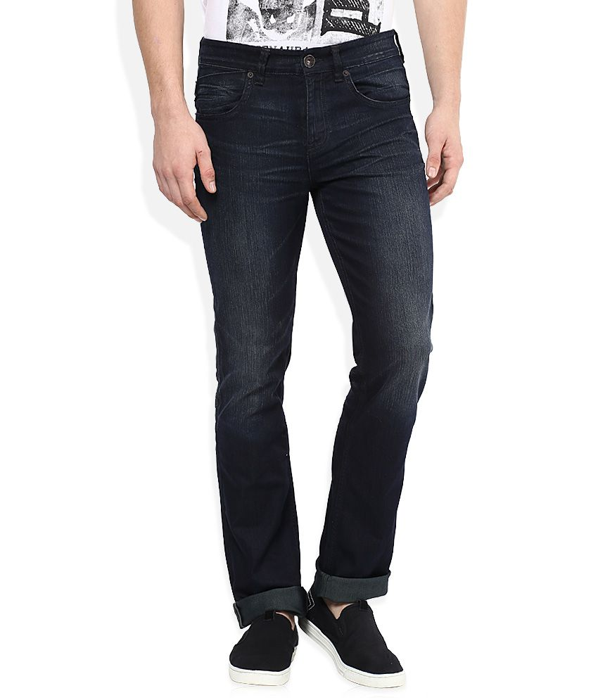 Calvin Klein Black Dark Wash Slim Fit Jeans