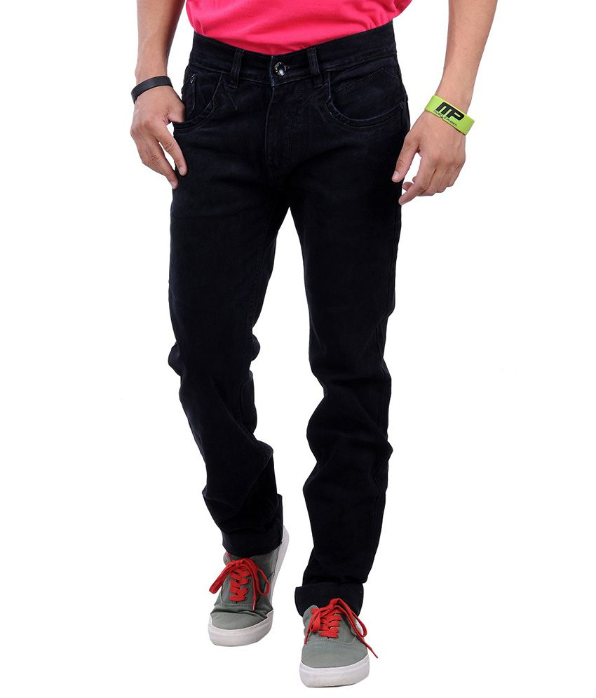 La Marino Black Cotton Blend Jeans