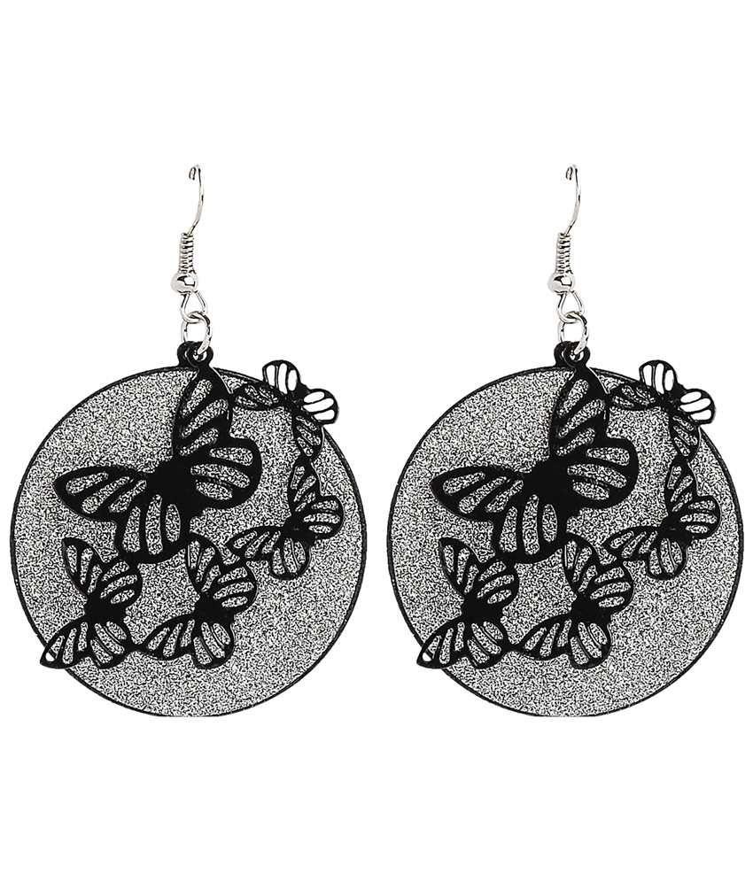 Ajara Silver Style Diva Drop Earrings