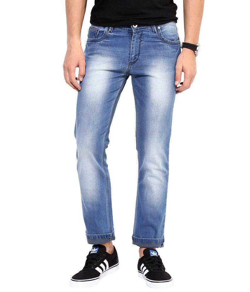 Monteil & Munero Light Blue Cotton Slim Fit Jeans