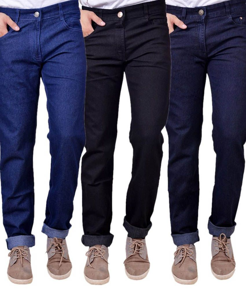 Masterly Weft Regular Fit Jeans- Pack Of 3