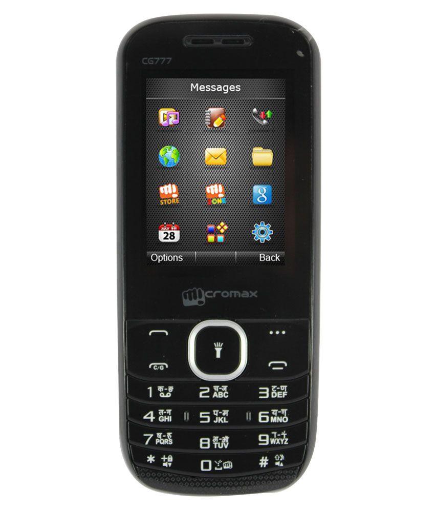 Micromax CG777 CDMA+GSM Black Price in India- Buy Micromax ...