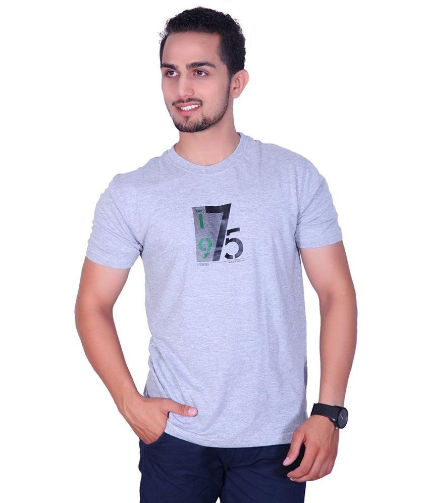 Amstead Grey Cotton T-shirt