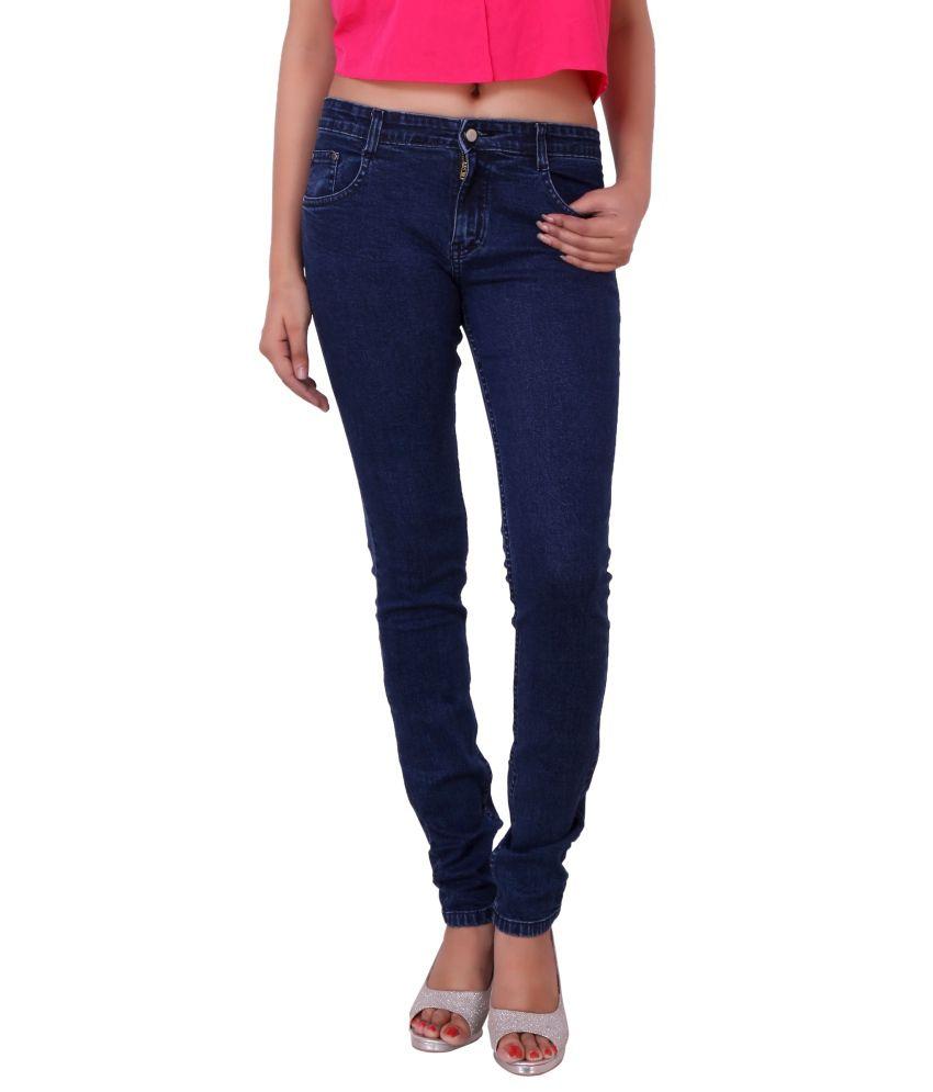 Airways Blue Denim Lycra Jeans