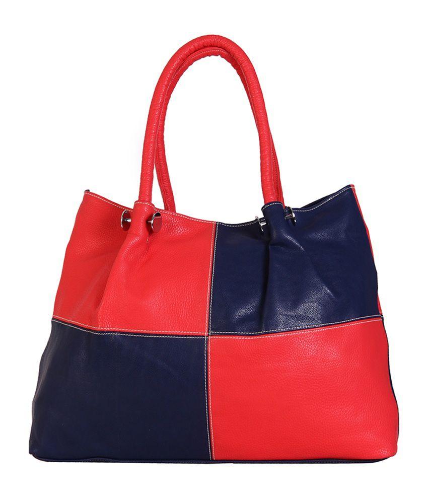 Indiwagon Red & Navy Blue Shoulder Bag