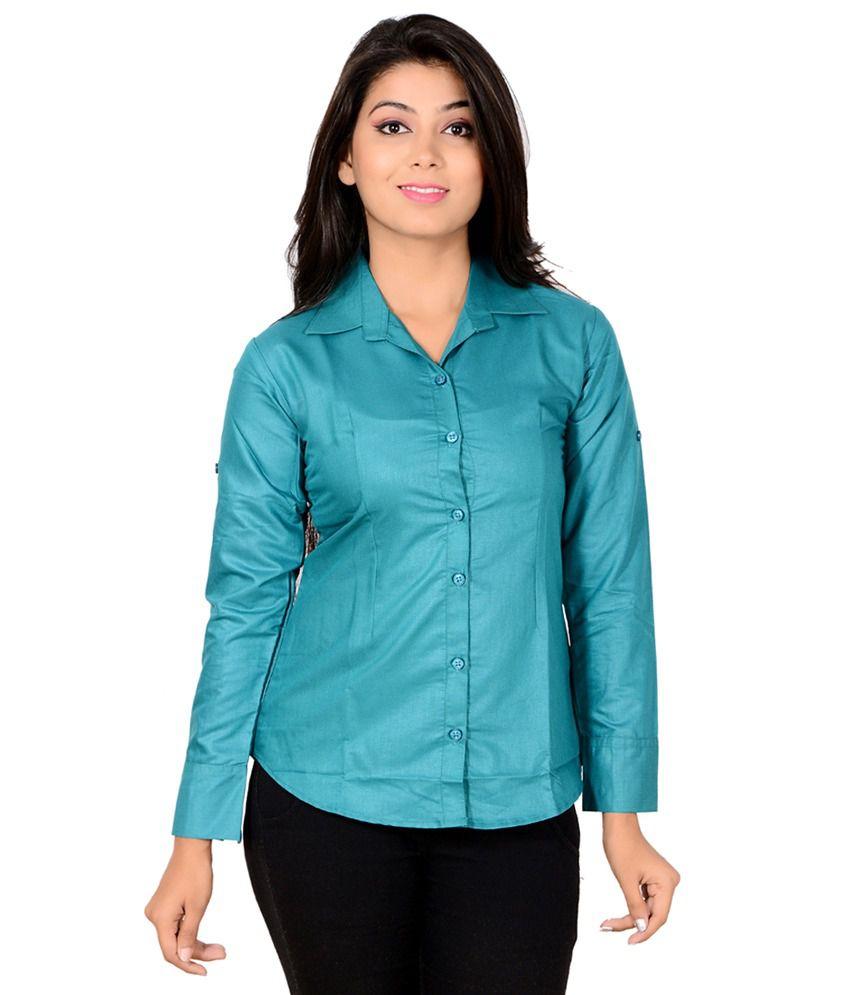 Jazzy Ben Green Poly Cotton Shirts