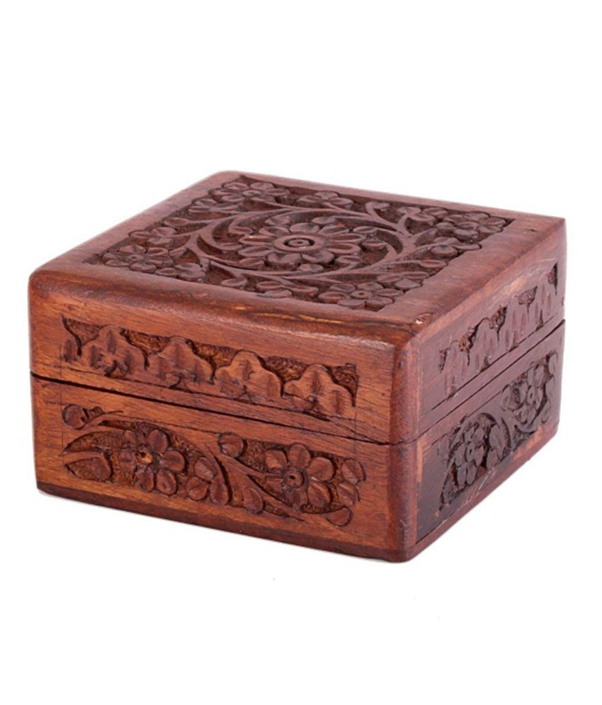Store Indya Floral Wooden Jewellery Box