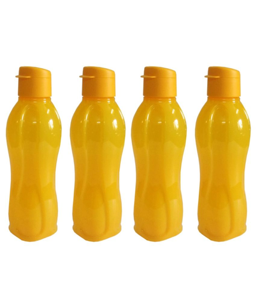 Tupperware Yellow Polypropylene 750 Ml Water Bottle Set Of