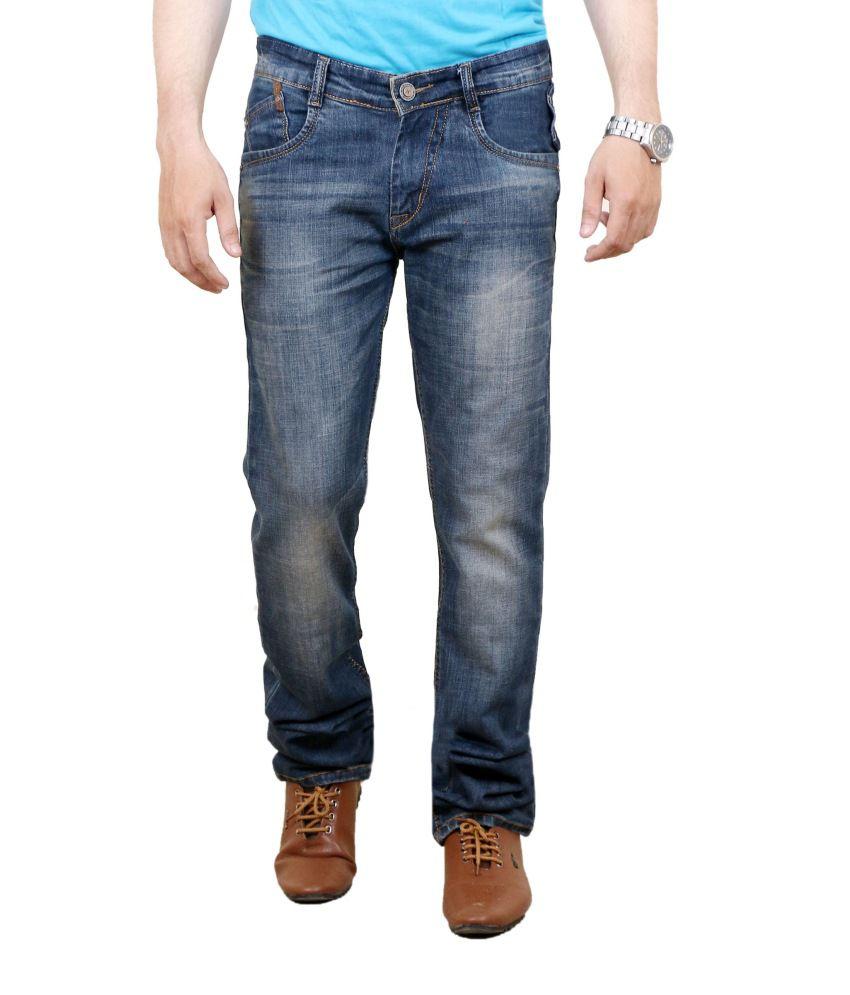 Zrestha Blue Cotton Blend Regular Fit Jeans