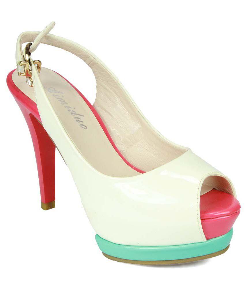 Glinchy White Heeled sandals