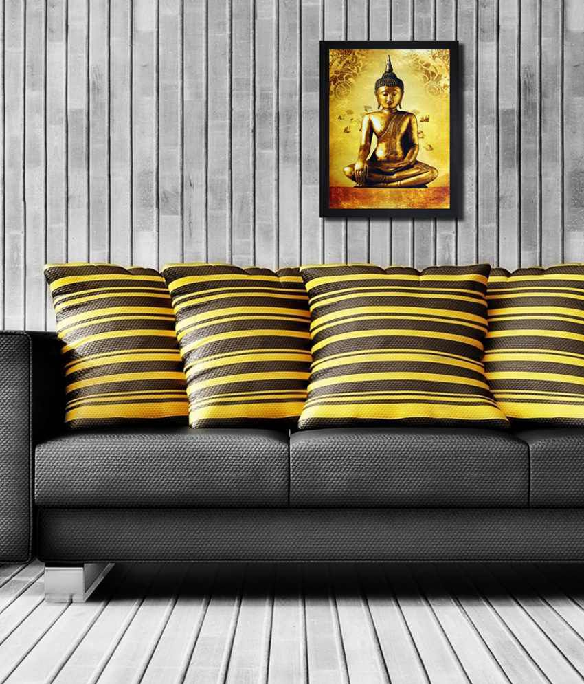 Saf Black Wooden Special Effect Buddha Painting