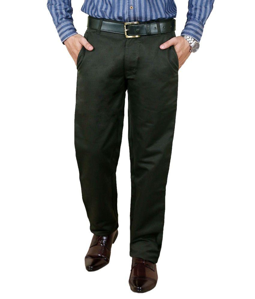 Zrestha Black Slim Fit Formal Chinos Trouser