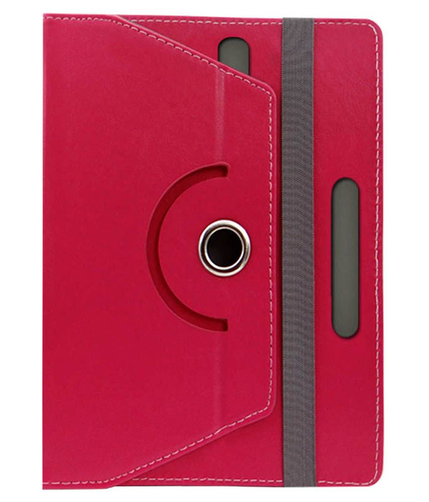 Sne Flip Cover For Hcl Me Connect 2g 3.0 Tablet - V3 - Pink
