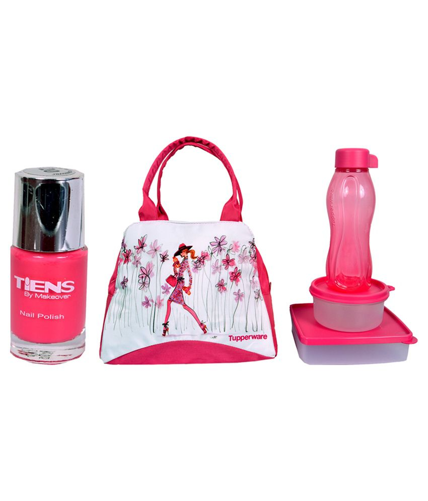 Tupperware Pink Lunch Box With Nailpaint: Buy Online at Best Price ...