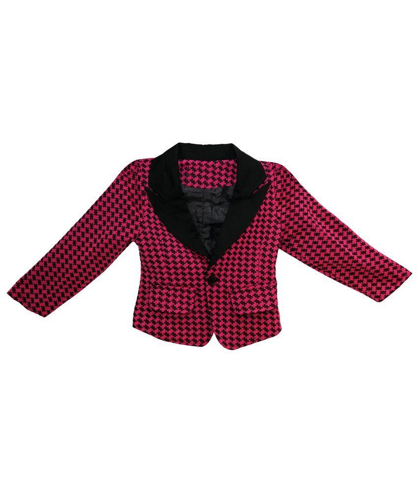 Kiiwi Girls Cotton Jacket / Blazer - Pink