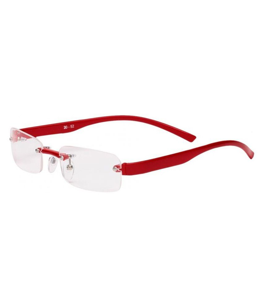 abc4d5759d0 New Zovial Red Rimless Frame Eyeglasses - Buy New Zovial Red Rimless Frame  Eyeglasses Online at Low Price - Snapdeal