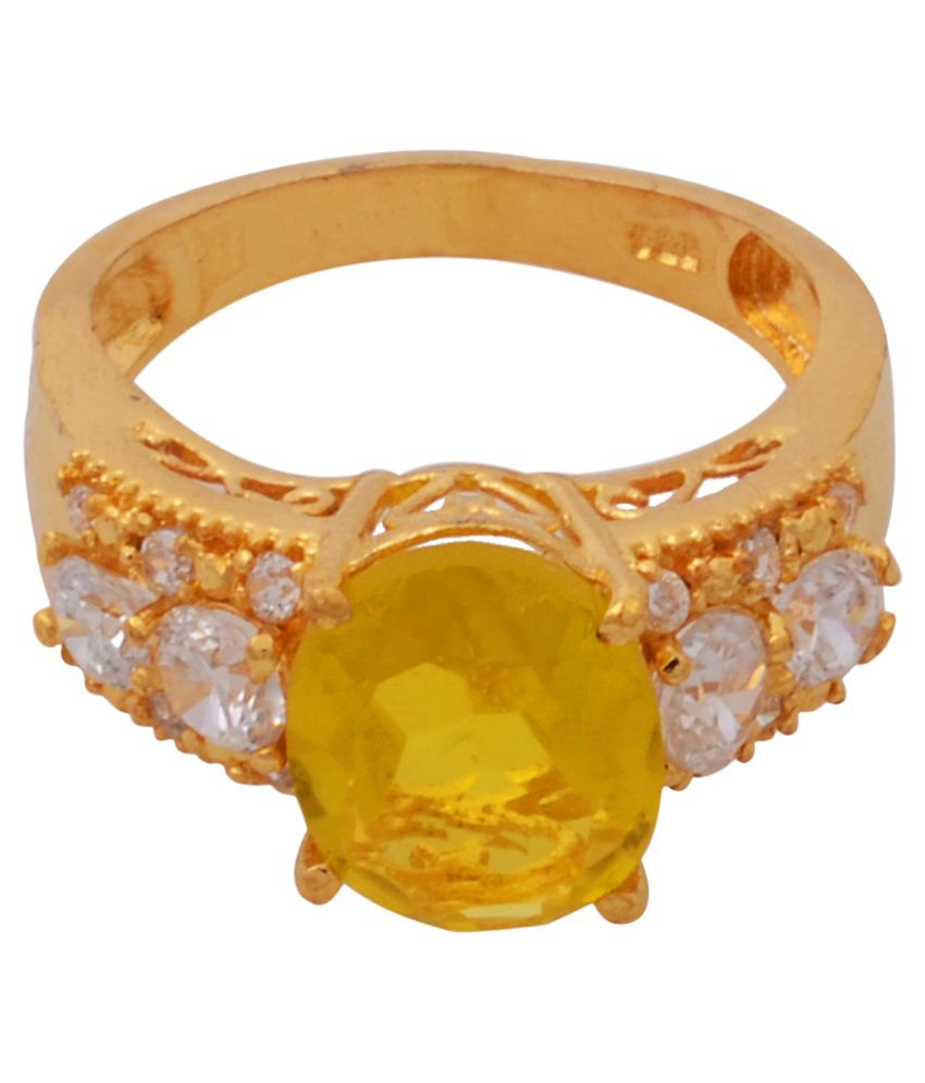 RS Jewellers Yellow Gold Plated Brass and Copper Ring