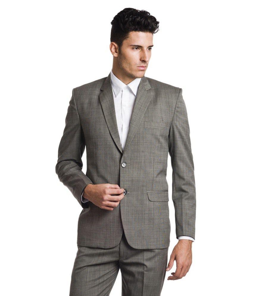 Ston Grey Woollen Blazer