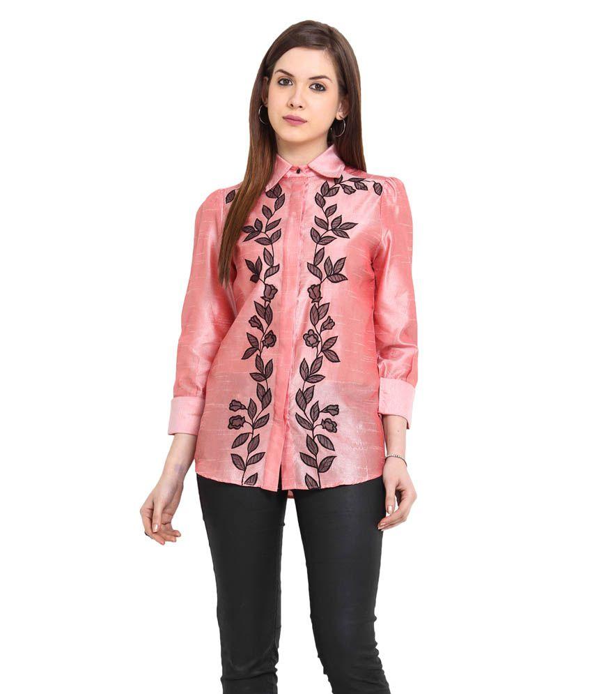 Stykin PeachPuff Poly Silk Shirts