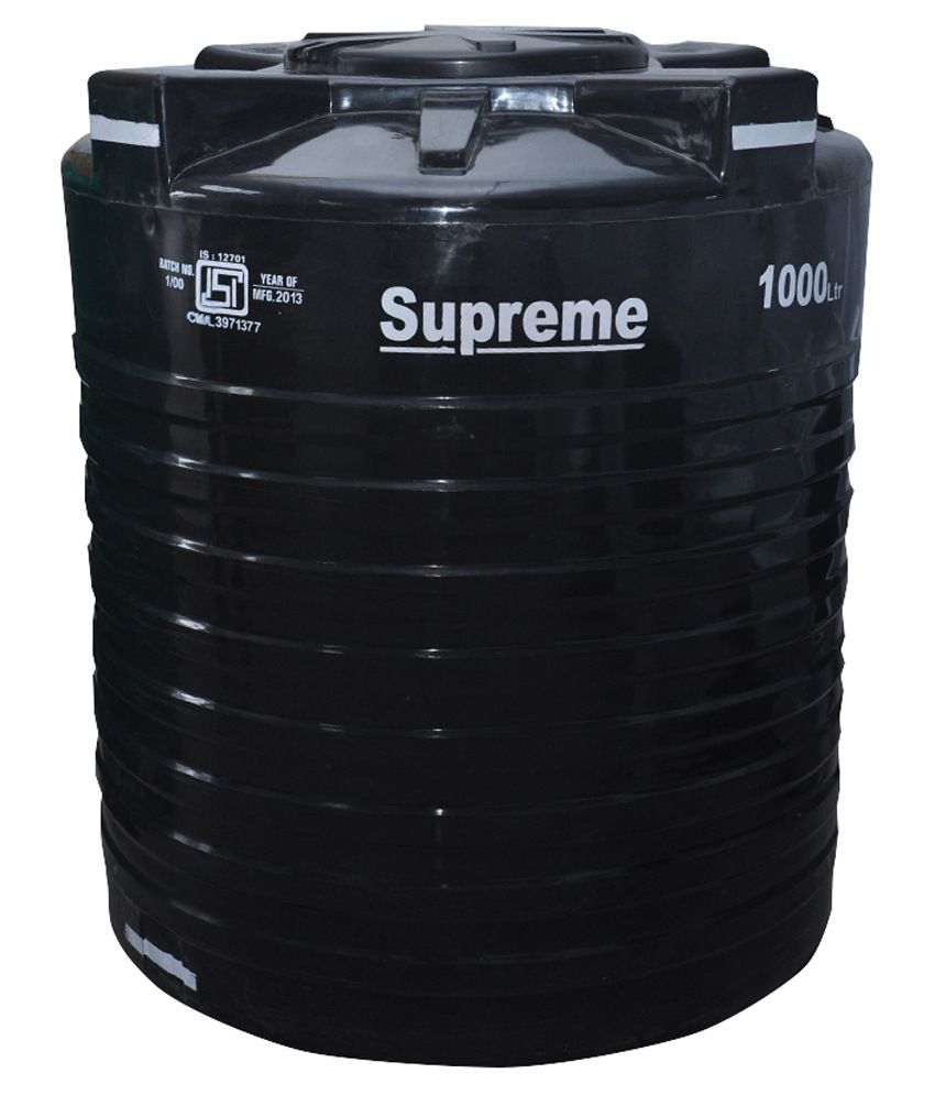 Buy Supreme Black Plastic Water Tank 1000 Ltr Online At Low Price In India Snapdeal